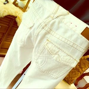 X2 EXPRESS boot leg white jeans! Like new!